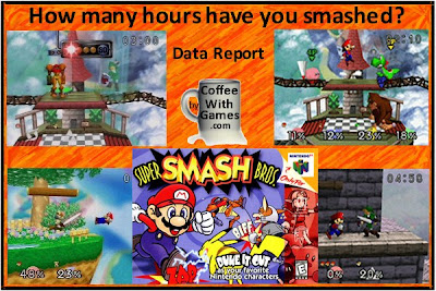 Coffee With Games How Many Hours Has Super Smash Bros Been Played US Super Smash Bros Data