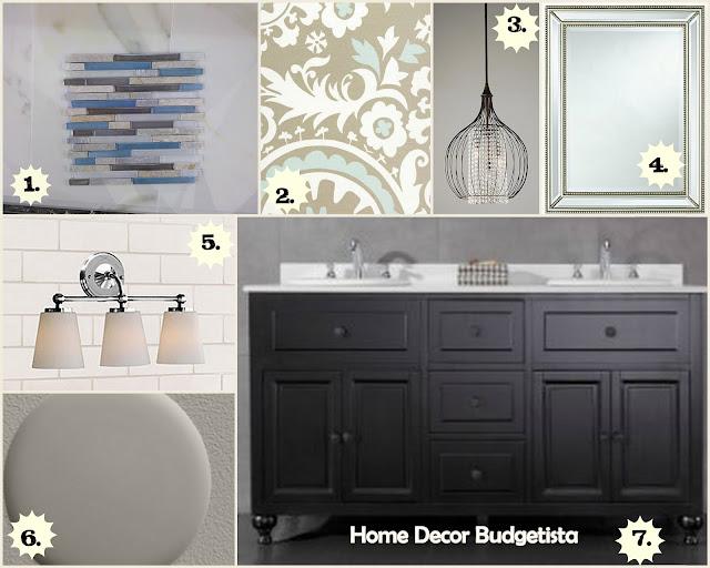 Home Decor Budgetista Bathroom Mood Board I