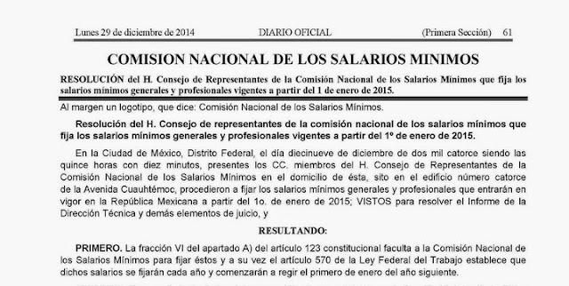 El nuevo salario mínimo 2015 para Yucatán: $66.45