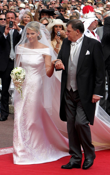 Charlene Wittstock Wedding Dress The Royal Ceremony Of Prince Albert II And At Princes Palace Monaco