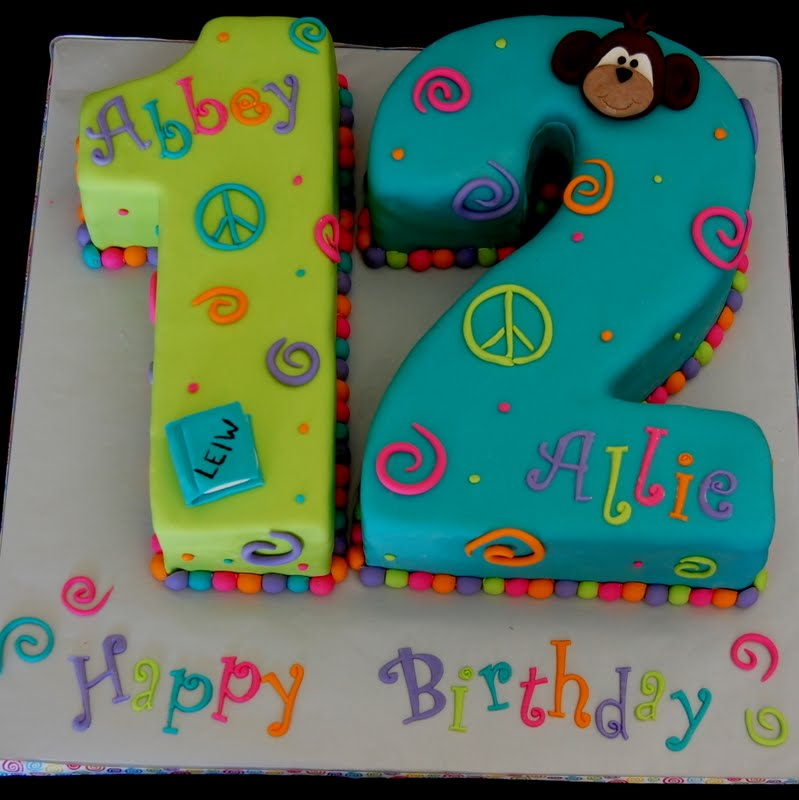 12th birthday cake