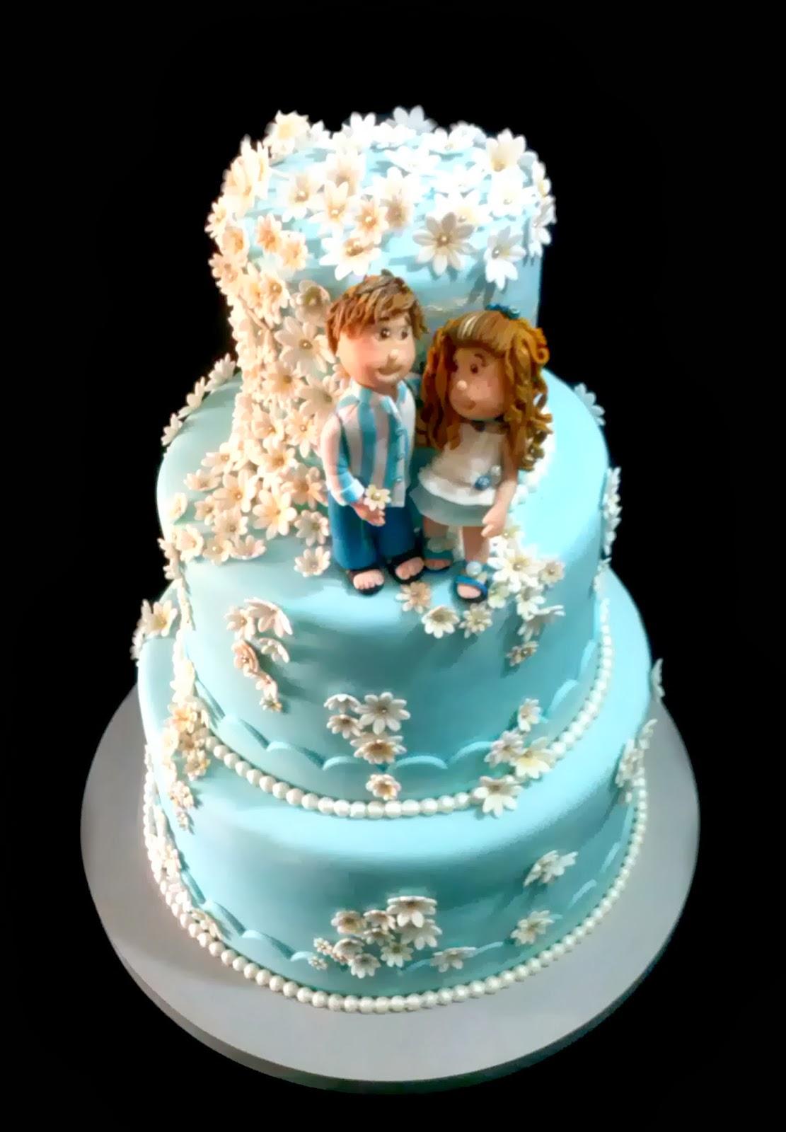 Ideas de la torta de boda en la playa