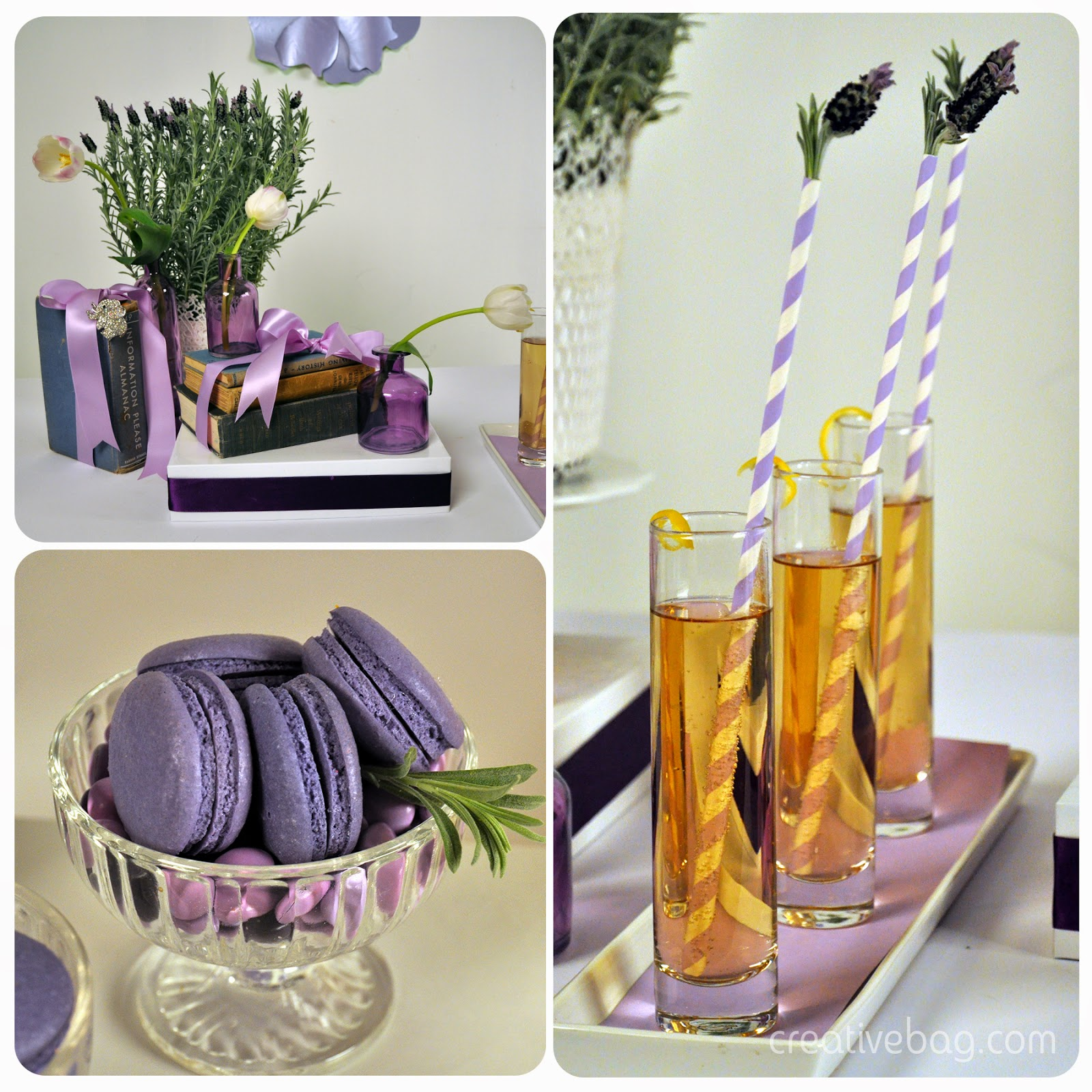 popcorn sweet table on YouTube - pretty grown up lavender theme