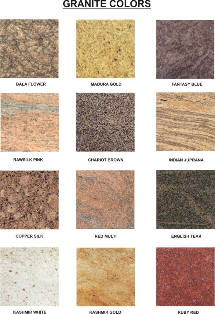 Granite Types : Granite - A dimension stone at its best.: Granite Worktops Colours ...
