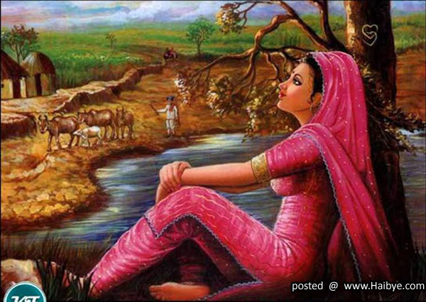 Rajasthani Girls Art Paintings 16