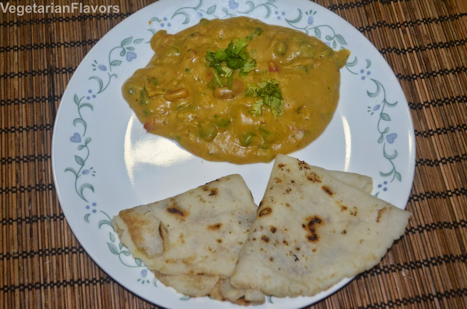 VegetarianFlavorsJunka/Pitla- Bell pepper Chickpea curry