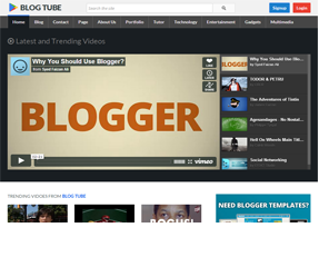 BlogTube Professional Video Blogger Template