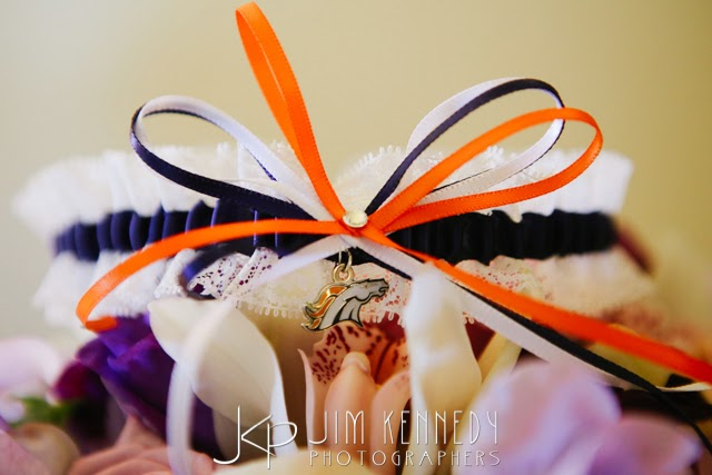 Denver Broncos Lace Wedding Garter by Sugarplum Garters