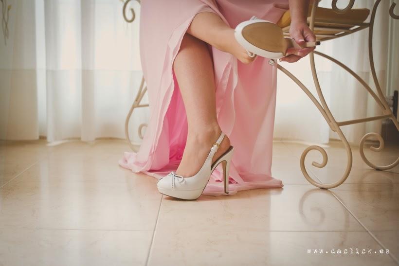 zapatos de novia - vestido de novia rosa