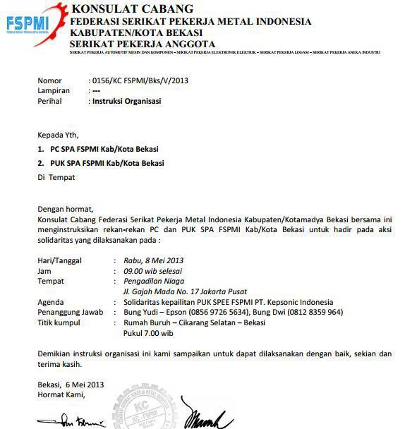 Demo Buruh  Pn Niaga Jakarta Pusat Informasi Demo Buruh
