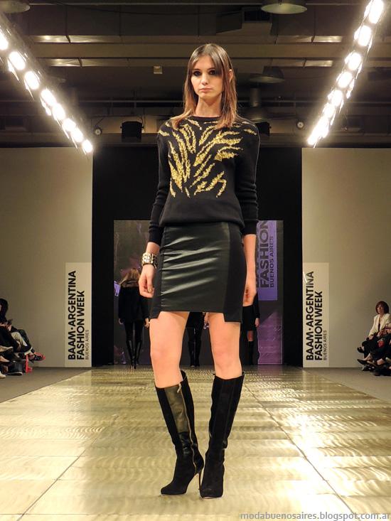 minifaldas de cuero Markova invierno 2014