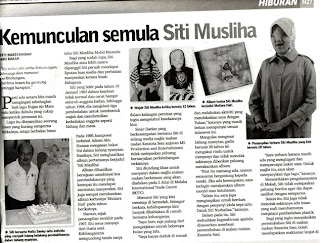 MUSIC IS PART OF LIFE: Siti Musliha Muncul Kembali