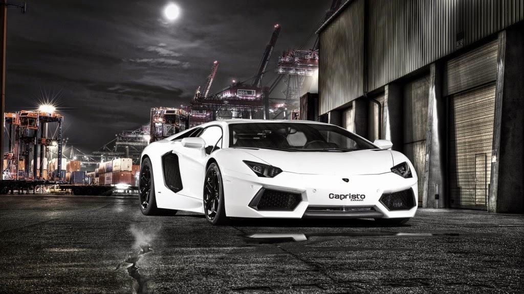 White Lamborghini Aventador By Capristo 2012 HD Wallpaper