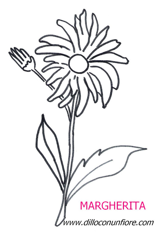 flower coloring pages: Daisy title=