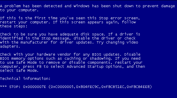 penyebab dan cara mengatasi blue screen