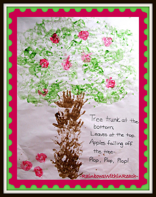 photo of: Apple Tree Handprint Bulletin Board for Back-to-School (Bulletin Board Round-UP via RainbowsWithinReach) 
