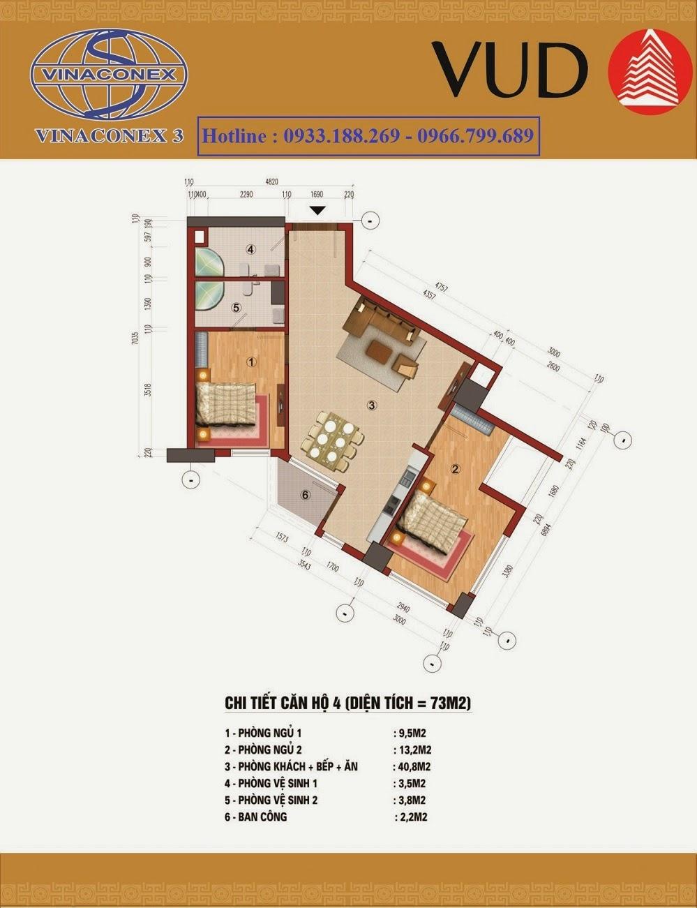 căn 73m2 , Chung cư CT1 Trung Văn - Vinaconex3