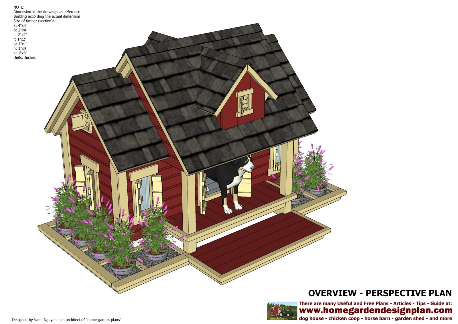 DH301 - Insulated Dog House Plans - Insulated Dog House Design - The ...