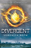 Divergent by Veronica Roth, UK book cover