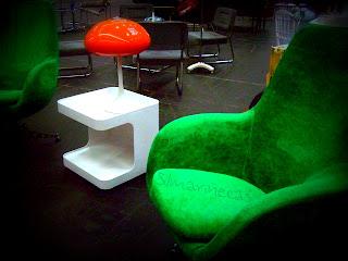 Mobiliario vintage en la feria de desembalaje 2013 en el BEC-