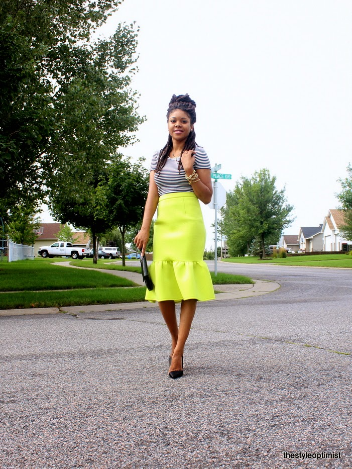 bella naija, african fashion bloggers, styleoptimist, african maxi skirt, ankara maxi skirt, how to wear african print, minneapolis fashion blogger, african print skirt, liberian fashion blogger, asos peplum hem skirt, neon peplum skirt, christian louboutin iriza