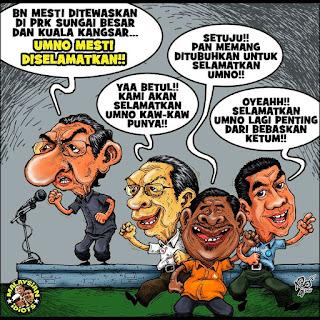 Selamatkan UMNO, Tolak BN - Mahathir Dah Nyanyuk