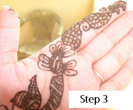 how to draw mehandi designs step by step