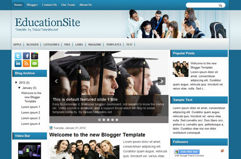 Education Site Blogger Template