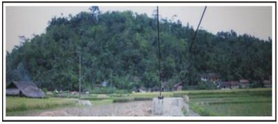 Bentuk morfologi perbukitan  endapan gunungapi
