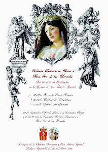 Cartel Oficial Quinario Nuestra Señora de las Mercedes