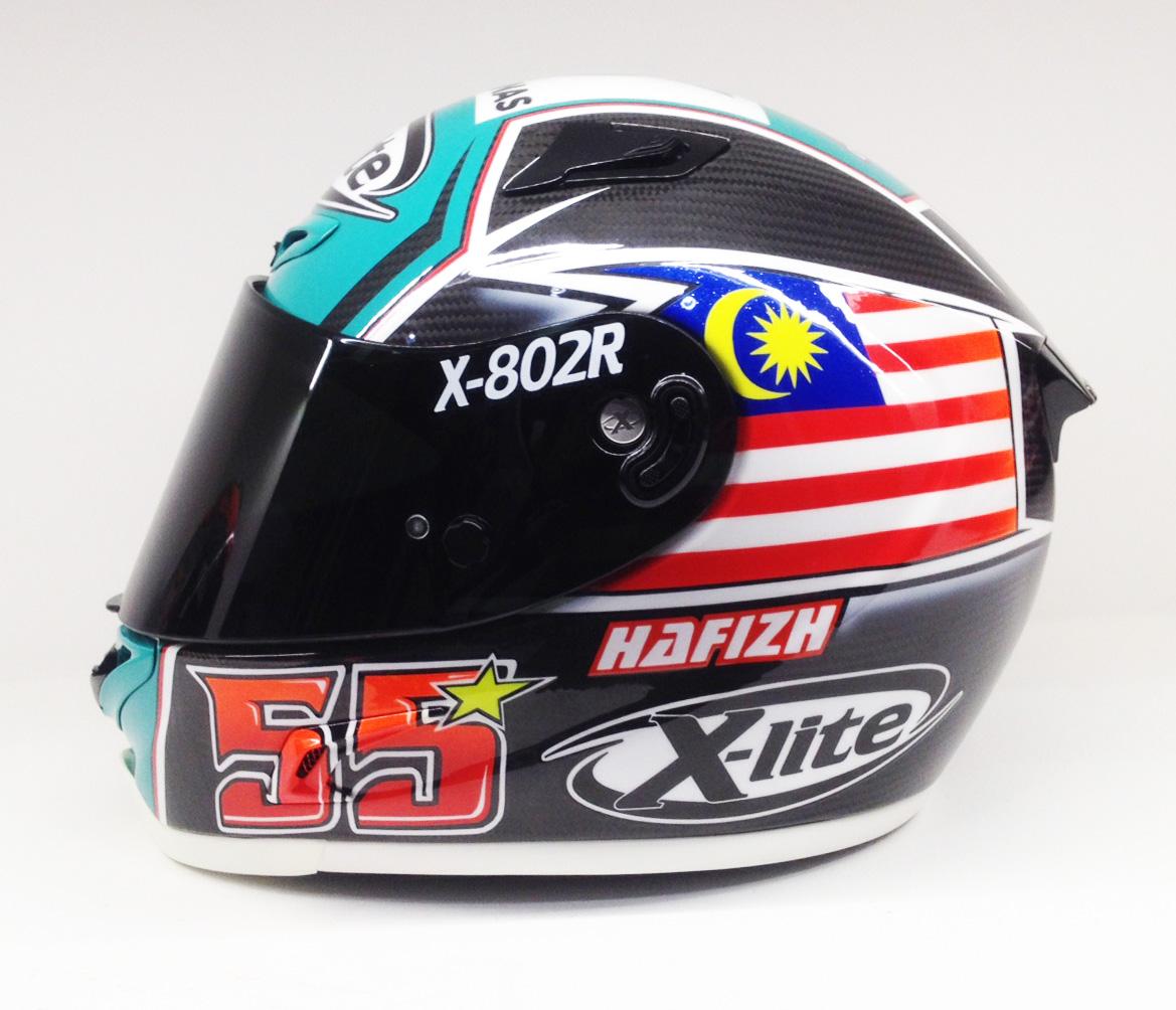 racing helmets garage x lite x 802r ultra carbon h. Black Bedroom Furniture Sets. Home Design Ideas