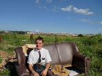 Elder Hoskin on a couch