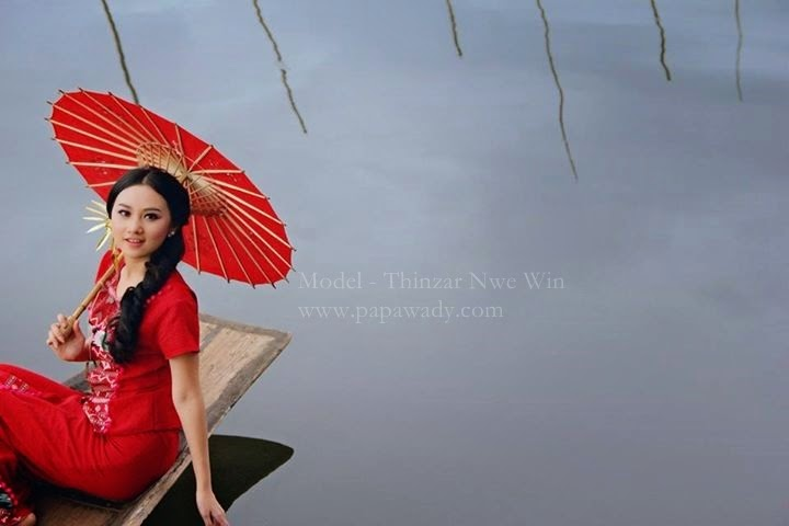 Thinzar Nwe Win - Beauty of Myanmar Girl in Inle Lake