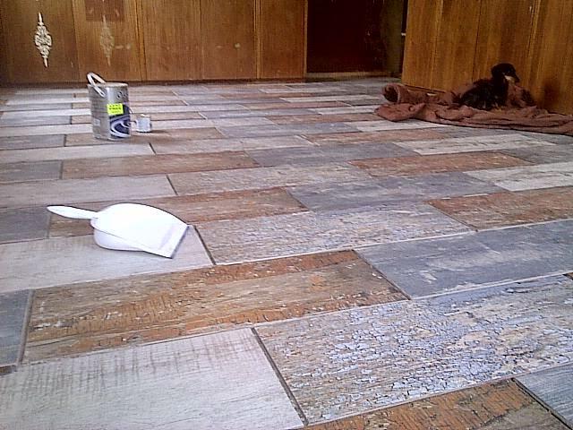 Chalk Paint And Upcycle Main Bedroom Floor Tiles Called Scrapwood - Ceramic tile scraps