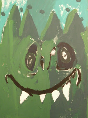 monster, creature acrylic paintings for kids