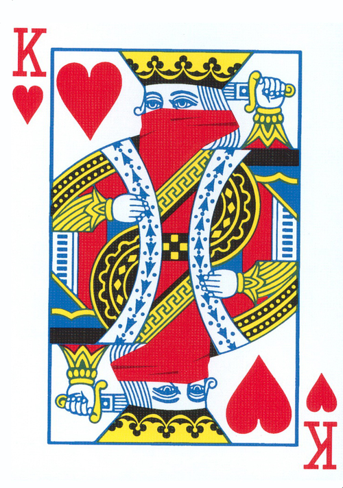 Why is the King of Hearts the only one that hasn't a moustache?