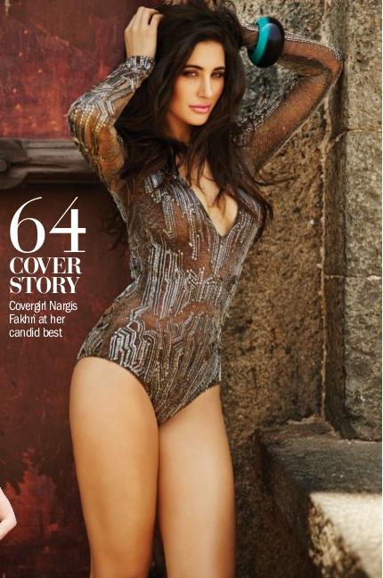 Nargis Fakhri - In Bikini for Filmfare Magazine July 2014 Photos