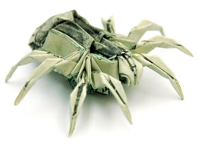Amazing Origami Using Only Dollar Bills Spider