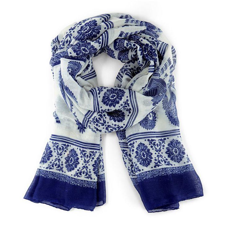 Elephant paisley print scarf