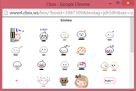 Emoticon pada shoutbox