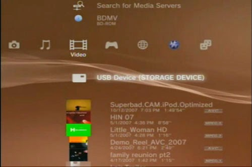 plug the storage media into your PlayStation 3 through USB