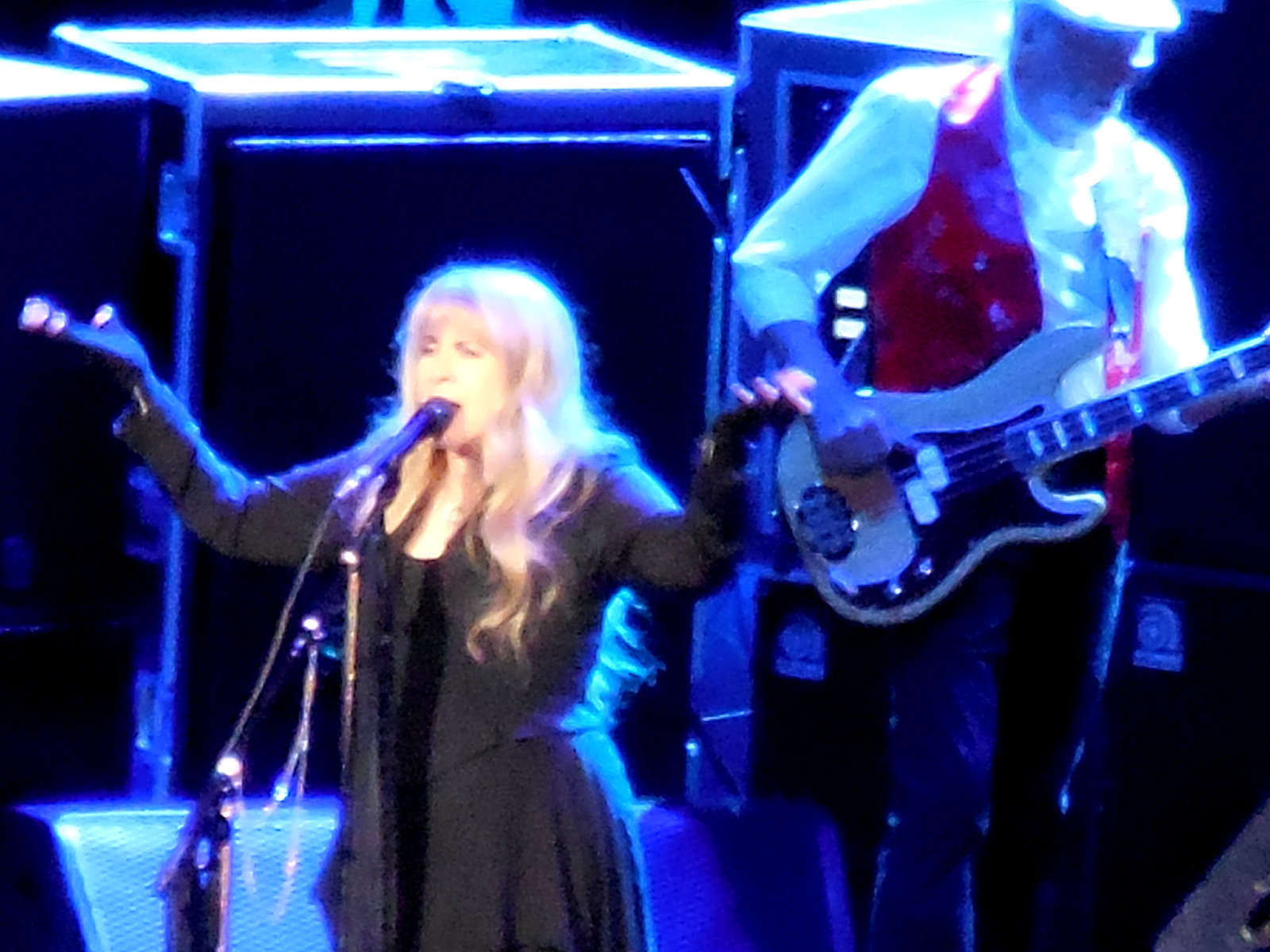 Stevie Nicks and John McVie at Verizon Center Jan 2015 ©K. R. Smith 2015