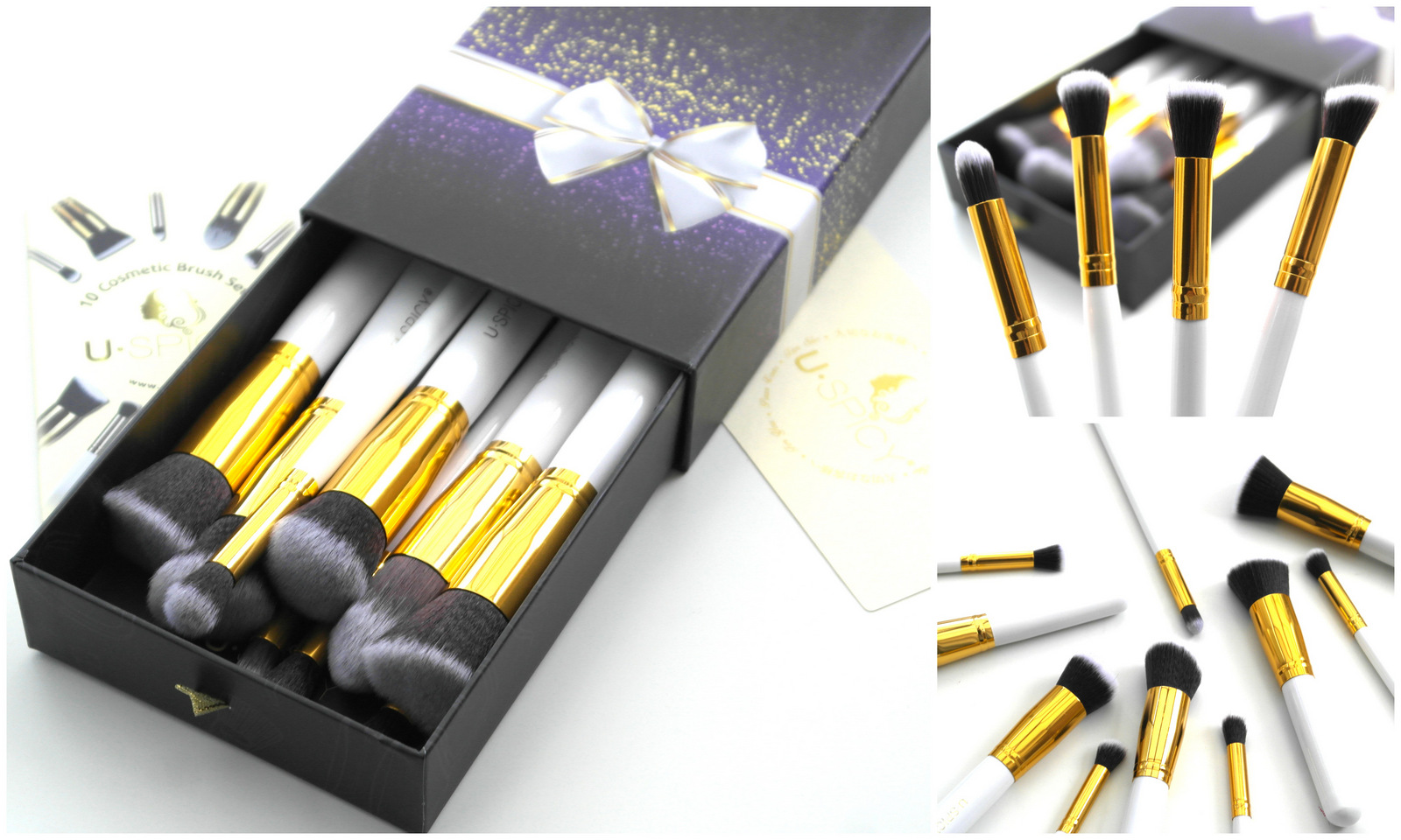 Uspicy 10 Piece Makeup Brush Set