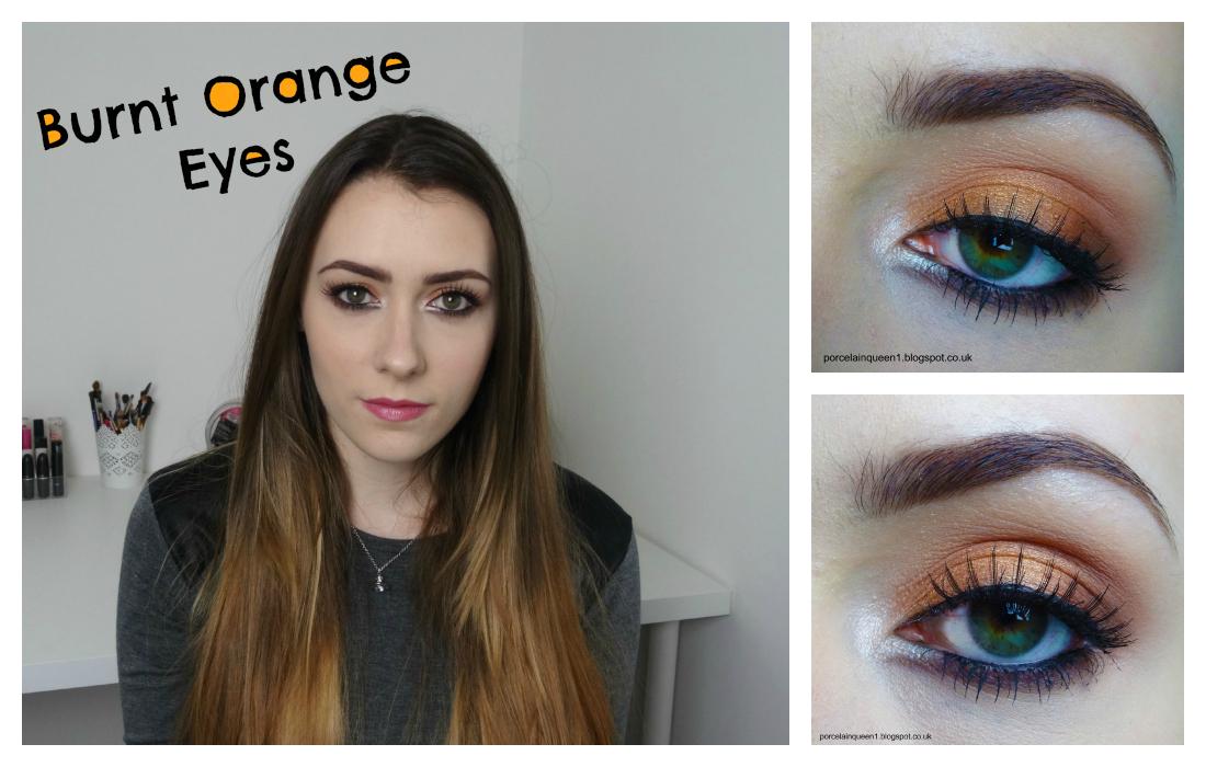 Burnt Orange Eye Makeup Youtube Tutorial Porcelain Queen