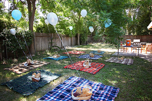 Bear Theme 1st Birthday!  Picnic Setting