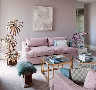sala rosa turquesa