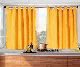 Cortinas de 2 pa os para cocinas de todos los colores for Disenos de cortinas de cocina
