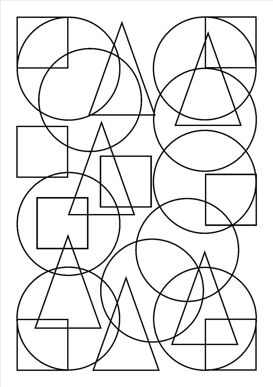 Id en vrac autour de l 39 ducation bienveillante formes - Coloriage des formes geometriques ...