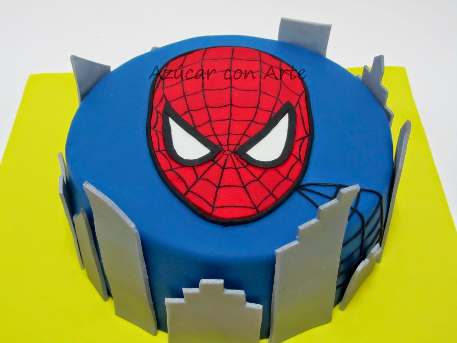 tarta spiderman, spiderman cake, tarta sin gluten, gluten free cake