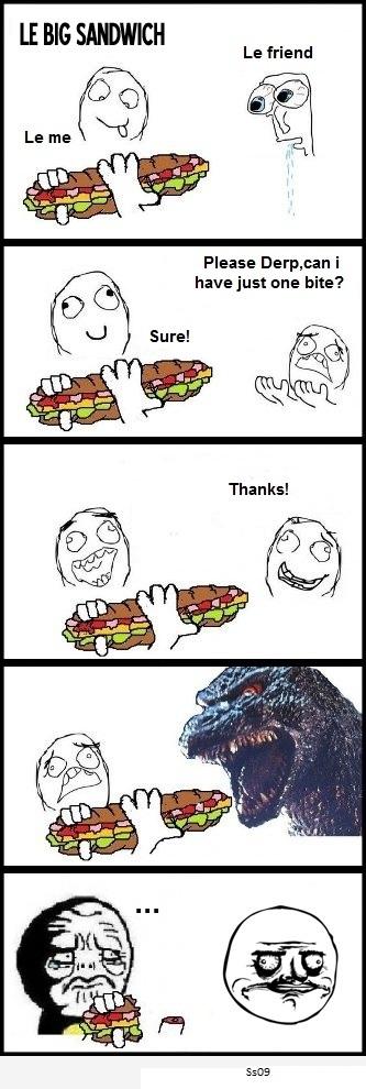 Big Sandwich - Le Friend - Asks 1 Bite